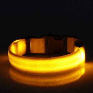 LED Halsband Geel
